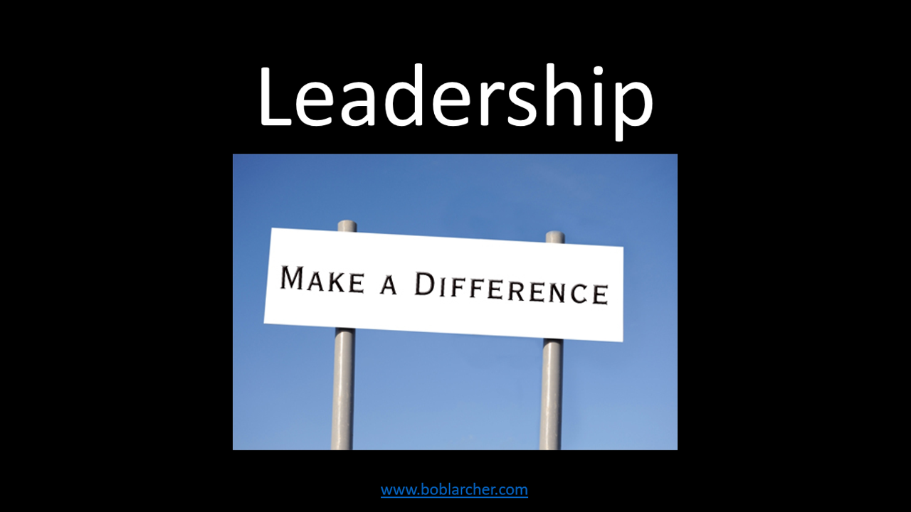 Leadership – Making a difference