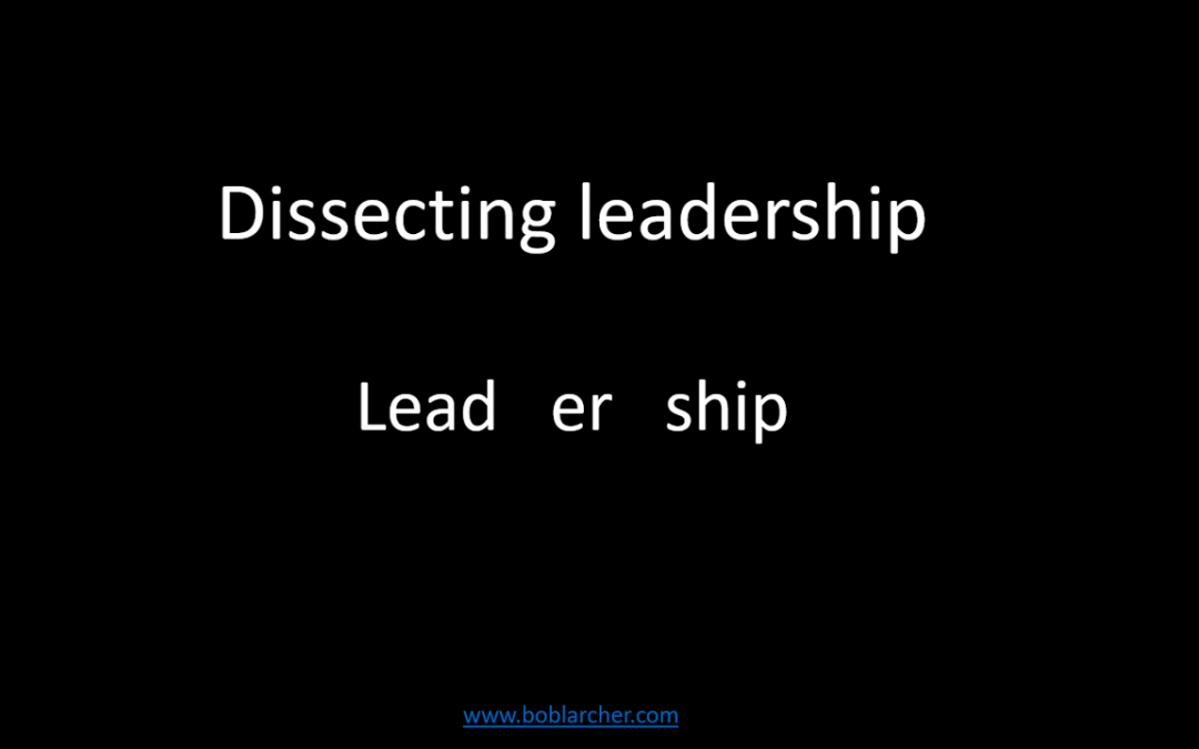 Dissecting leadership