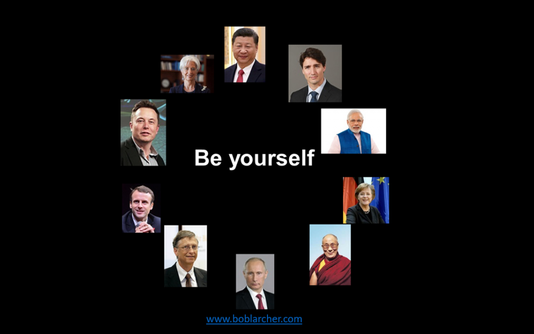 Be yourself leadership