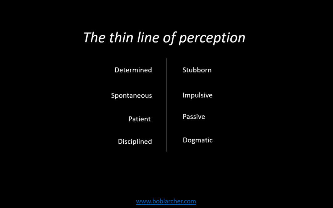 The thin line of perception