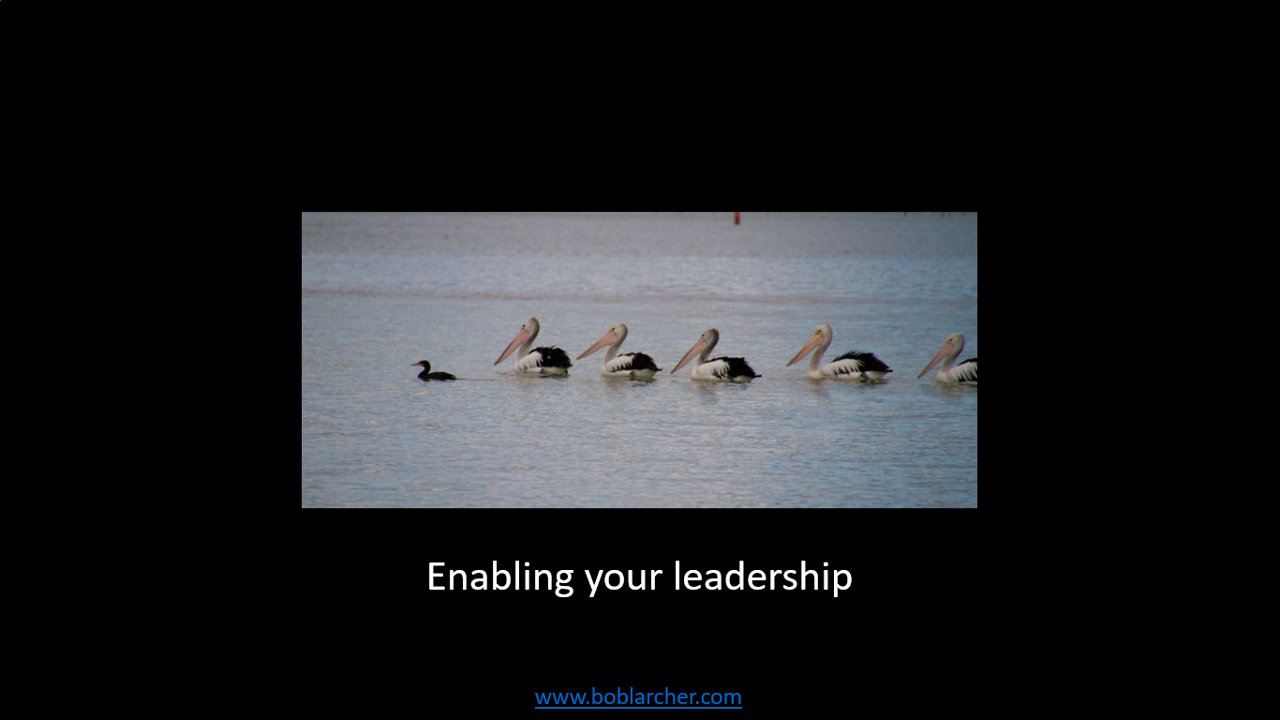 Enabling your leadership