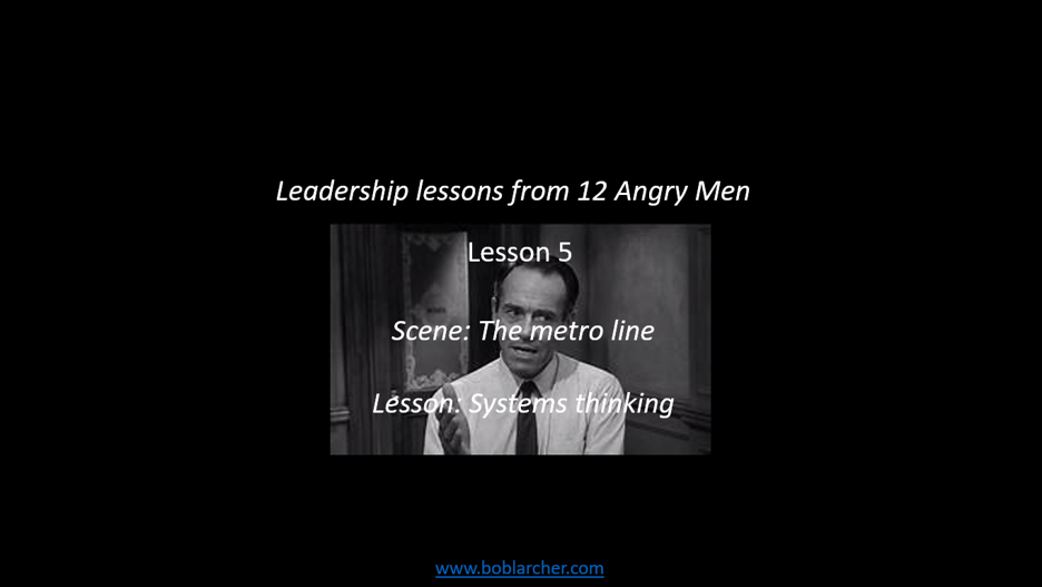 Leadership lessons from Twelve Angry Men – lesson 5