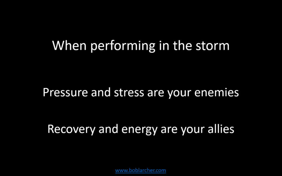 The importance of recovery